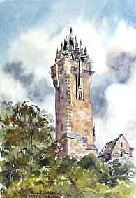 Wallace Monument Watercolour