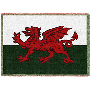 Welsh Dragon Throw Blanket