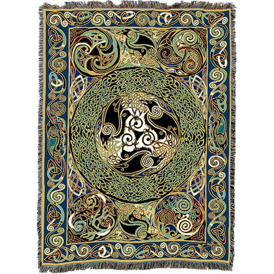 Celtic Ravens Throw Blanket