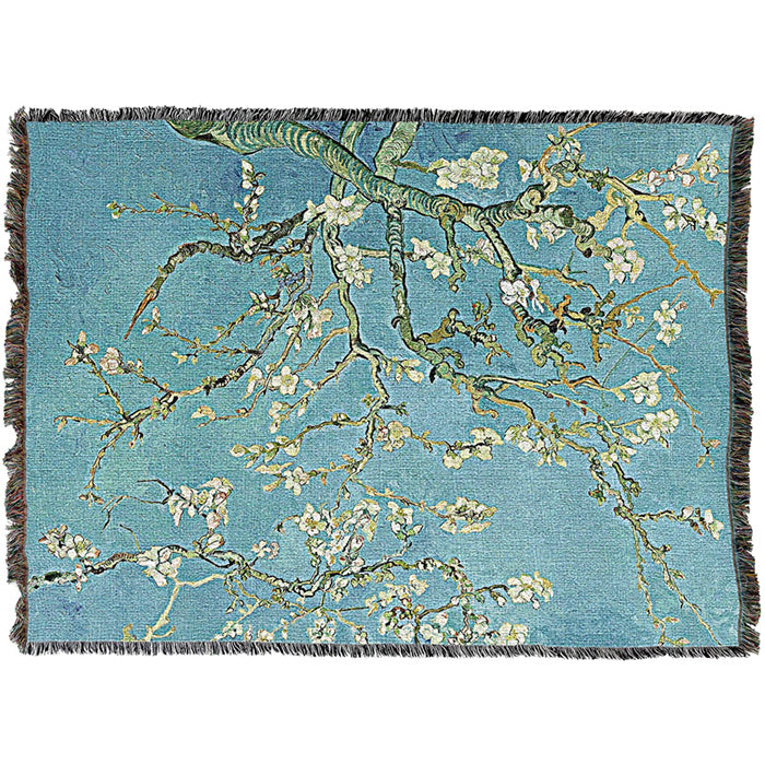 Van Gogh's Almond Blossoms Throw Blanket