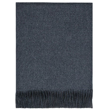 Load image into Gallery viewer, Charcoal Lambswool Blanket