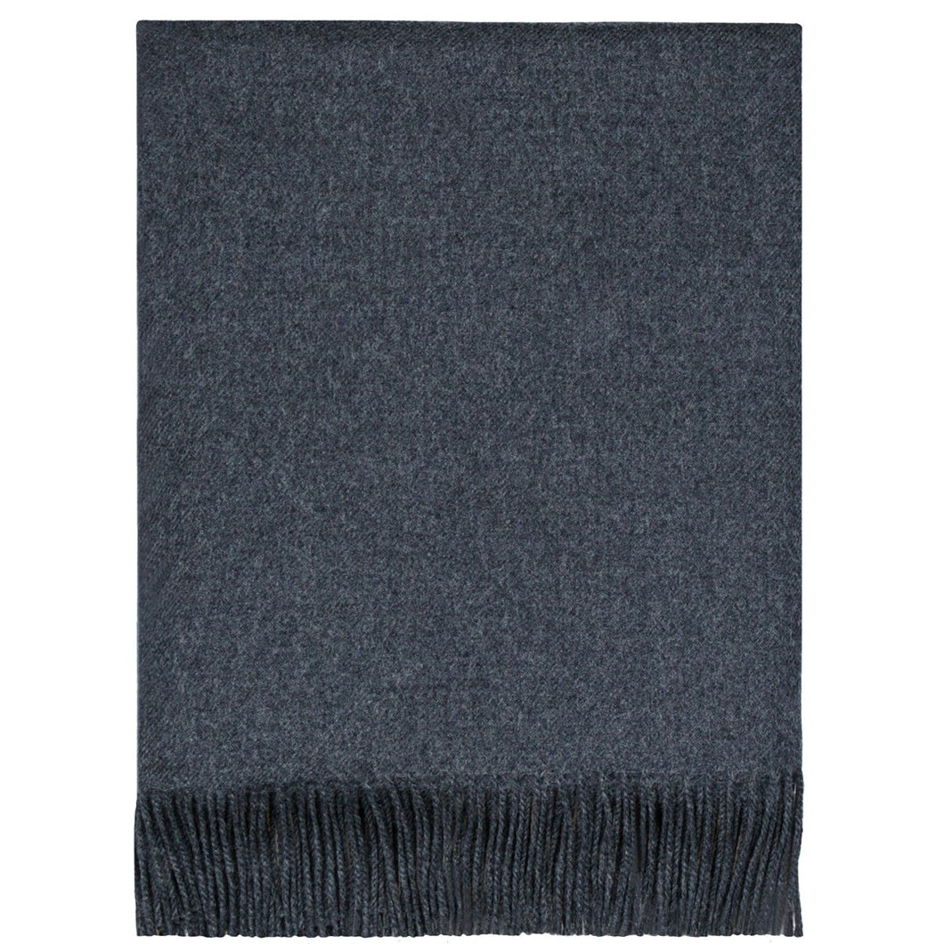 Charcoal Lambswool Blanket