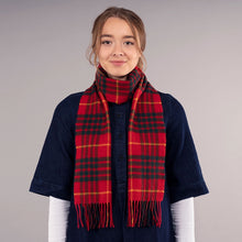 Load image into Gallery viewer, Cameron Modern Tartan Brushed Lambswool Scarf