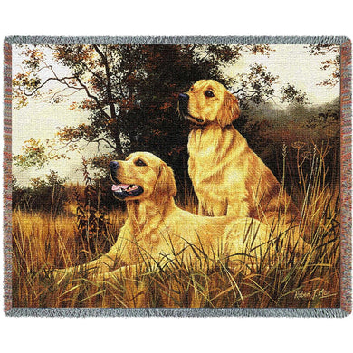 Golden Retriever Cotton Throw Blanket