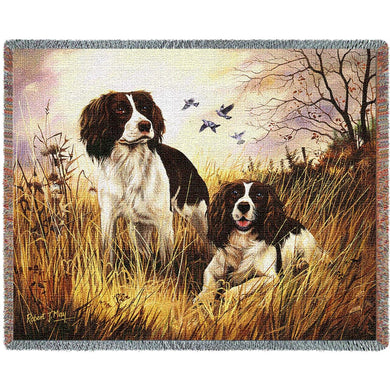 English Springer Spaniel Cotton Throw Blanket