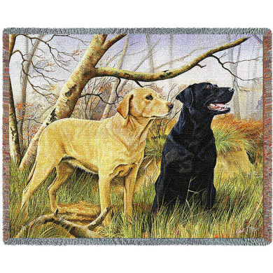 Labrador Retrievers Lab Cotton Throw Blanket