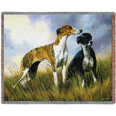 Greyhound Cotton Throw Blanket