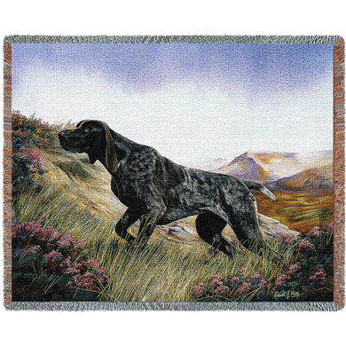 German Shorthaired Pointer Cotton Throw Blanket