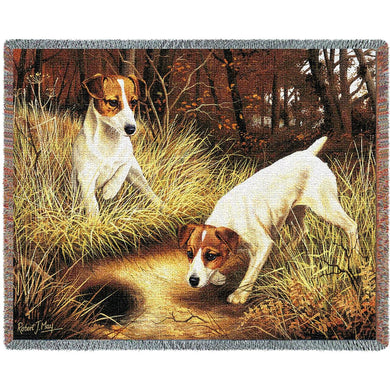 Jack Russell Terrier Cotton Throw Blanket