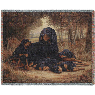 Gordon Setter Cotton Throw Blanket