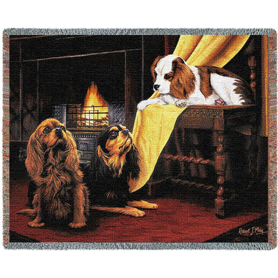 Cavalier King Charles Spaniel Cotton Throw Blanket