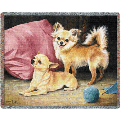 Chihuahua Cotton Throw Blanket