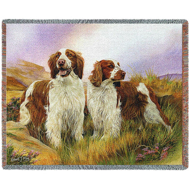 Welsh Springer Spainiel Cotton Throw Blanket