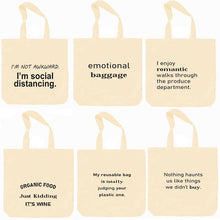 Load image into Gallery viewer, Cotton Reusable Shopping Bags