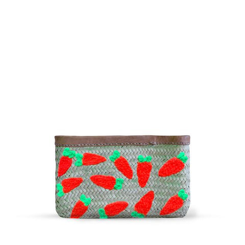 Easter Straw clutch - carrots