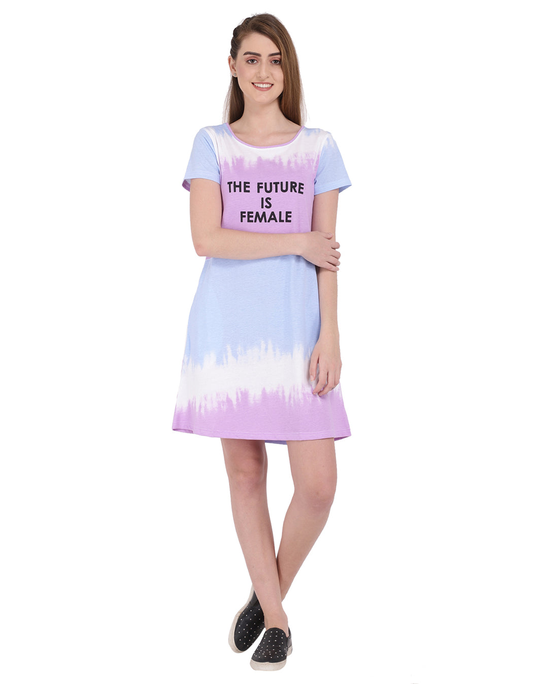 Tie Dye Printed Dress - The Future is female