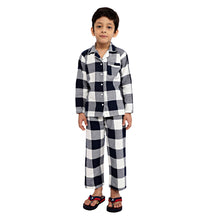 Load image into Gallery viewer, Blue Classic Check Boys Nightsuit
