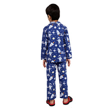 Load image into Gallery viewer, Space Theme Blue Boys Nightsuit