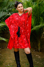 Load image into Gallery viewer, Ninos Dreams Red Floral Print Kaftan