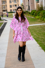 Load image into Gallery viewer, Ninos Dreams Pink Floral Print Kaftan
