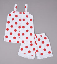 Load image into Gallery viewer, Red Polka Dot Shorts and Top Set