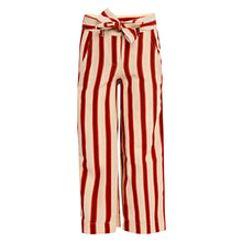 Load image into Gallery viewer, Red Striped Palazzo and T-Shirt Set