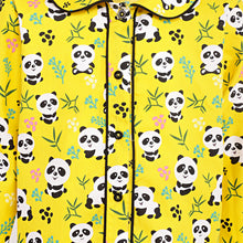 Load image into Gallery viewer, Ninos Dreams Yellow Panda Girls Nightsuit