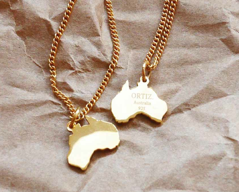 Australia-Necklace, The-world-Necklace, BYORTIZ