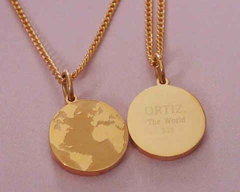The-world-necklace, BY.ORTIZ is a Scandinavian jewelry brand that was launched in Gothenburg, May  2014. THE WORLD AROUND MY NECK collection