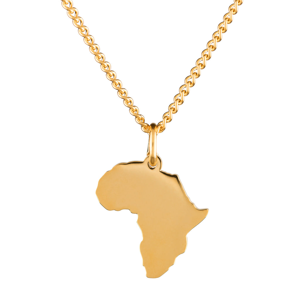 By.Ortiz-Africa-necklace-18k-Gold-Plated, Wolrd-Map-Necklace