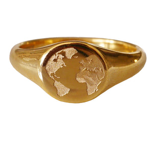 THE-WORLD-RING, 18k Gold Plated