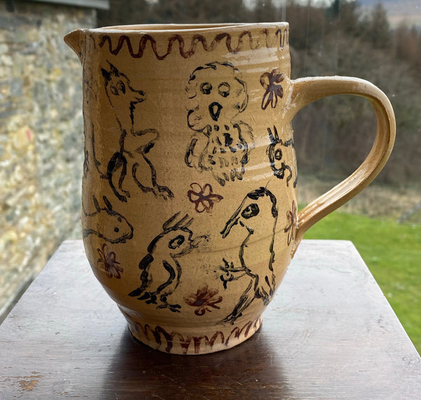 Hand-Painted Animal Jug (Peter Hodgson)