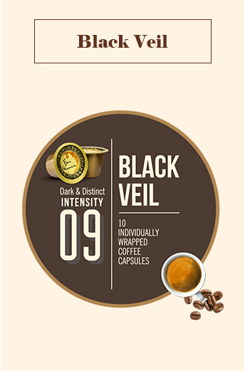 Bonhomia Black Veil Coffee Capsules | Intensity 9 (Pack of 10)