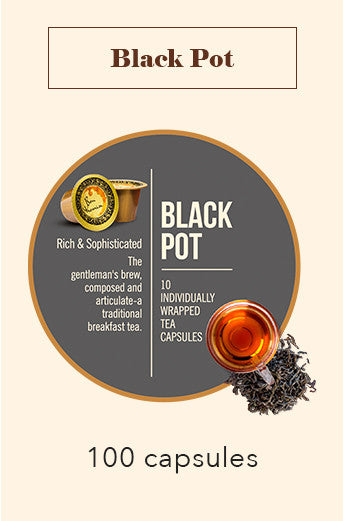 100 Bonhomia Black Pot Tea Capsules | English Breakfast Tea