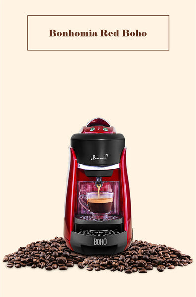 Red Boho, bonhomia brewer, coffee maker, nespresso brewer, coffee making machine, espresso coffee machines