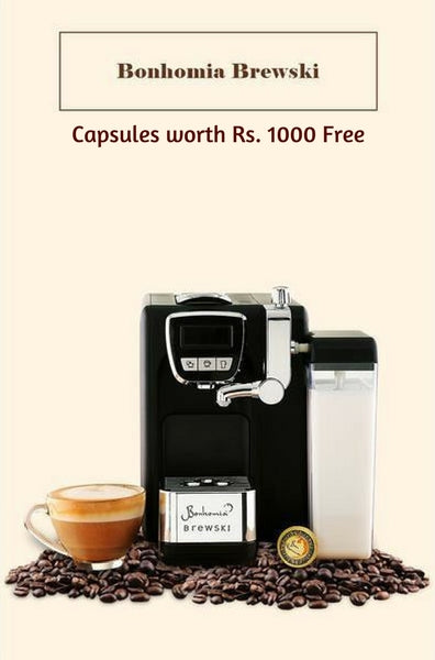 BONHOMIA BREWSKI SINGLE SERVE CAPPUCCINO AND ESPRESSO COFFEE BREWER (Special Offer)