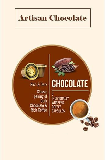 Bonhomia Artisan Chocolate Flavoured Coffee Capsules (Pack of 5)