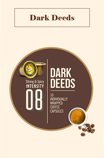 Bonhomia Dark Deeds Coffee Capsules | Intensity 8 (Pack of 10)