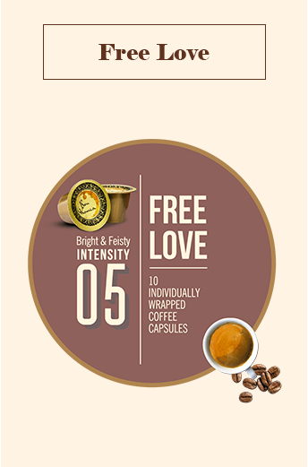 Bonhomia Free Love Coffee Capsules | Intensity 5 (Pack of 10)