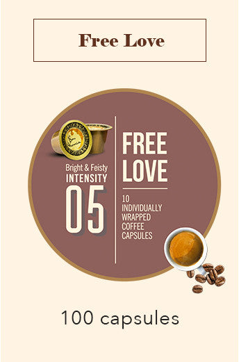 100 BONHOMIA FREE LOVE COFFEE CAPSULES | INTENSITY 5