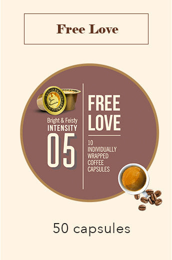 50 BONHOMIA FREE LOVE COFFEE CAPSULES | INTENSITY 5