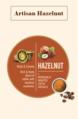 Bonhomia Artisan Hazelnut Flavoured Coffee Capsules (Pack of 5)
