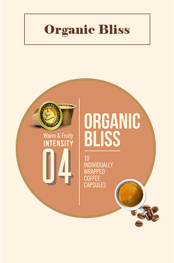 Bonhomia Organic Bliss Coffee Capsules | Intensity 4 (Pack of 10)