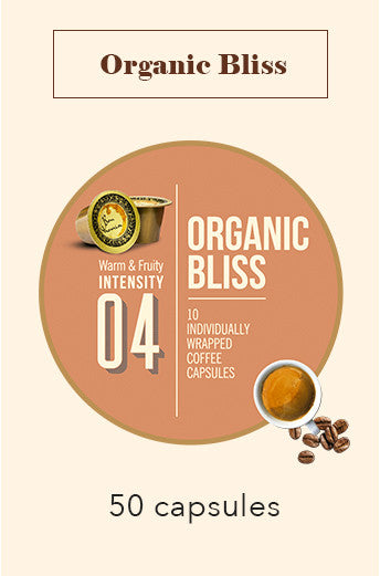 50 BONHOMIA ORGANIC BLISS COFFEE CAPSULES | INTENSITY 4