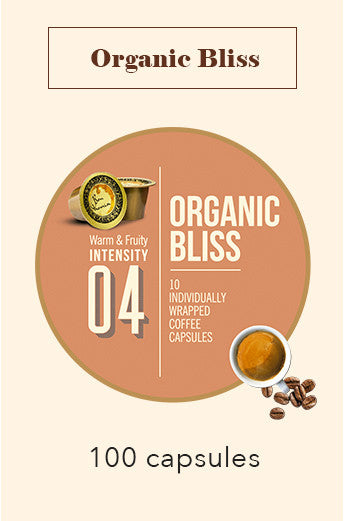 100 BONHOMIA ORGANIC BLISS COFFEE CAPSULES | INTENSITY 4