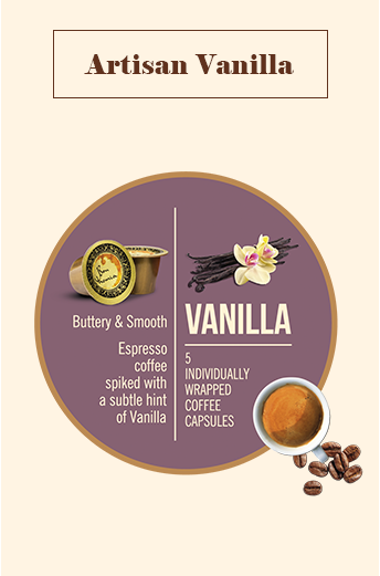 Bonhomia Artisan Vanilla Flavoured Coffee Capsules (Pack of 5)