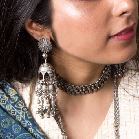 THIS CLASSIC JHUMKA IS PERFECT FOR YOUR CASUAL LOOK AS WELL AS SEMI FORMAL LOOK.YOU CAN STYLE THIS WITH SAREE , WHITE SHIRT WITH DENIM.