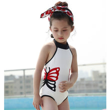 Load image into Gallery viewer, Ella Beach Butterfly Swimming Wear/Swimsuit