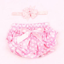 Load image into Gallery viewer, Violet Ruffle Bloomer Princess Panties Cover with Headband Set