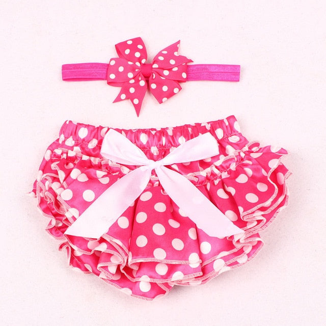 Violet Ruffle Bloomer Princess Panties Cover with Headband Set